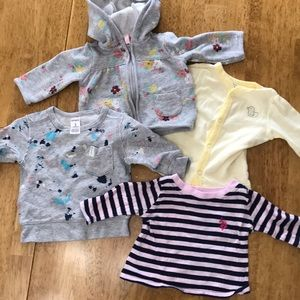 Bundle of 4 3month Adorable long sleeve shirts!